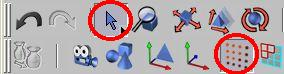 Zapneme výběr oblasti tažením a editaci polygonů