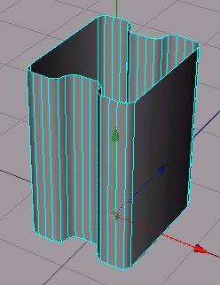 Takto by mněl vypadat objekt po vytvoření polygonů
