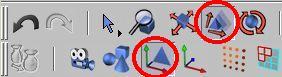 Zapneme nástroj pro změnu velikosti aktivního prvku a editaci objektu k ( modelování )
