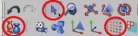 Nastavíme výběr tažením, editaci bodů a převedeme objekt na editovatelný