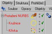 Označíme Potažení NURBS