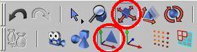 Zvolíme posun aktivního prvku a editaci objektu k ( modelování )