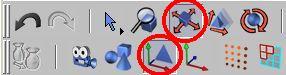 Zapneme posun aktivního prvku a editaci objektu k ( modelování )