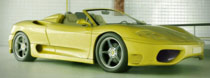 Rendering yellow Ferrari