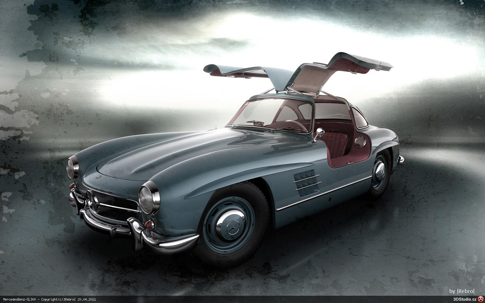 Mercedes benz sl300 3dstudio v3 3d grafika 3dsmax for The biggest mercedes benz
