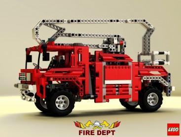 Fire truck studio shot