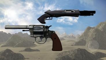 colt and shotgun